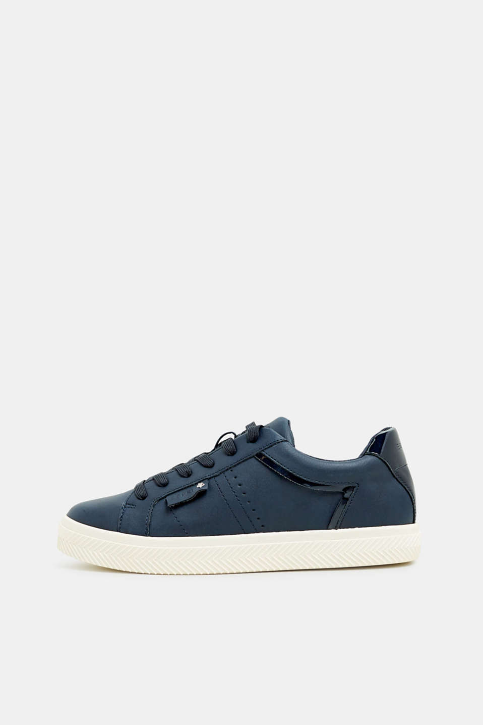 Faux nubuck trainers, NAVY, detail image number 0