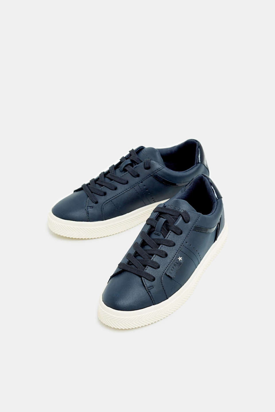 Faux nubuck trainers, NAVY, detail image number 1