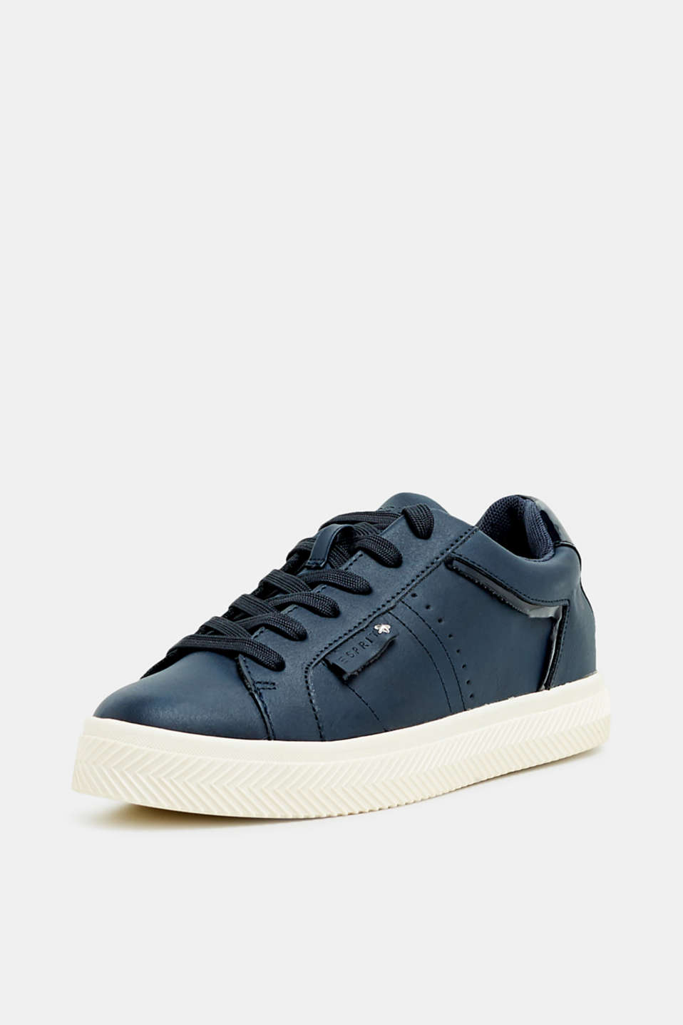 Faux nubuck trainers, NAVY, detail image number 2