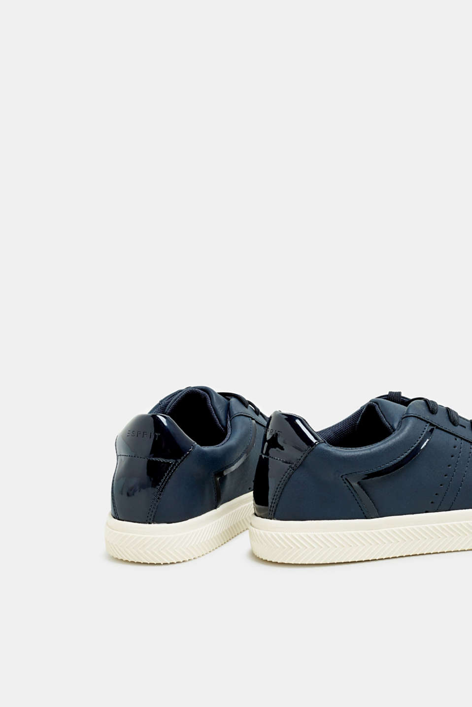 Faux nubuck trainers, NAVY, detail image number 5