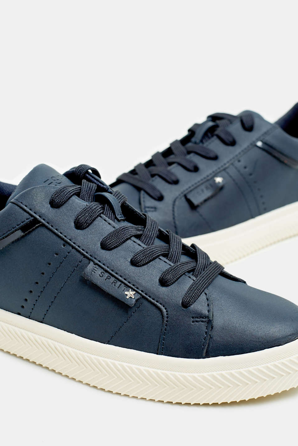 Faux nubuck trainers, NAVY, detail image number 4