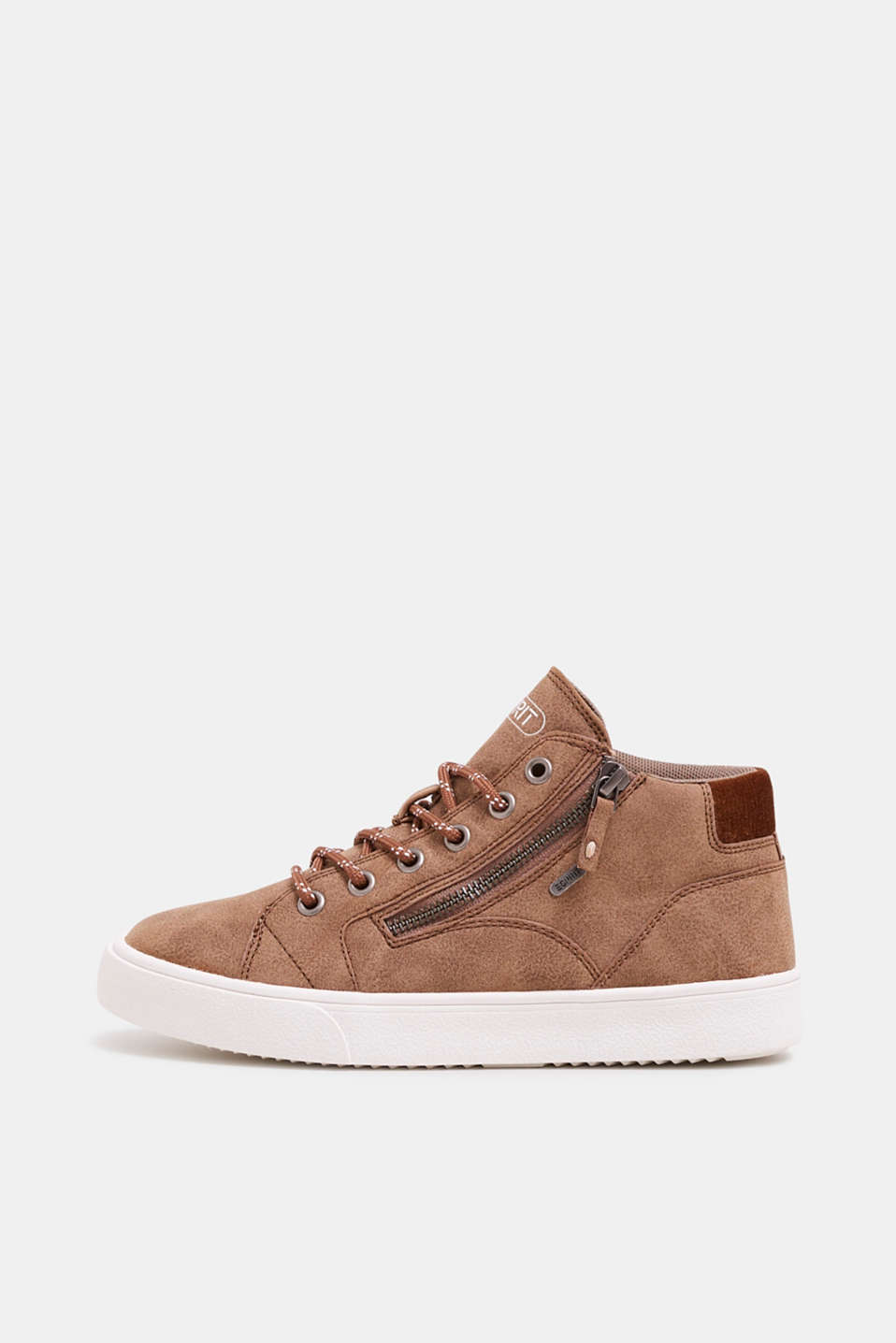 Esprit - High Top-Sneaker in veganer Leder-Optik