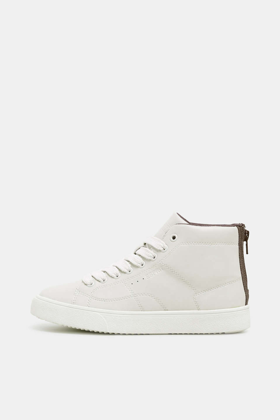Esprit - High top-sneakers i vegansk læderlook
