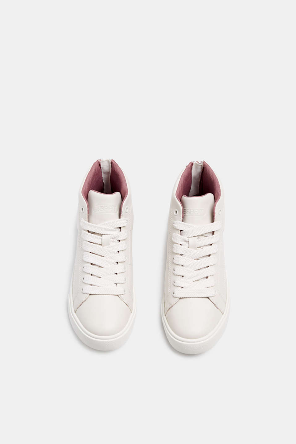 High-top trainers in vegan faux leather, DARK OLD PINK, detail image number 1