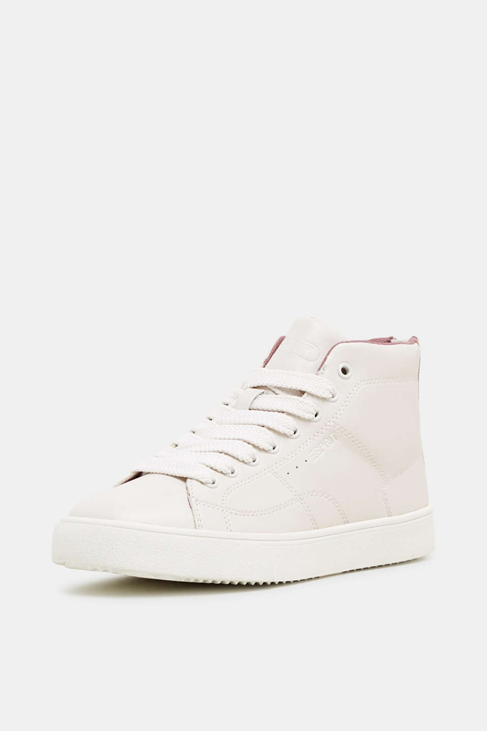 High-top trainers in vegan faux leather, DARK OLD PINK, detail image number 2