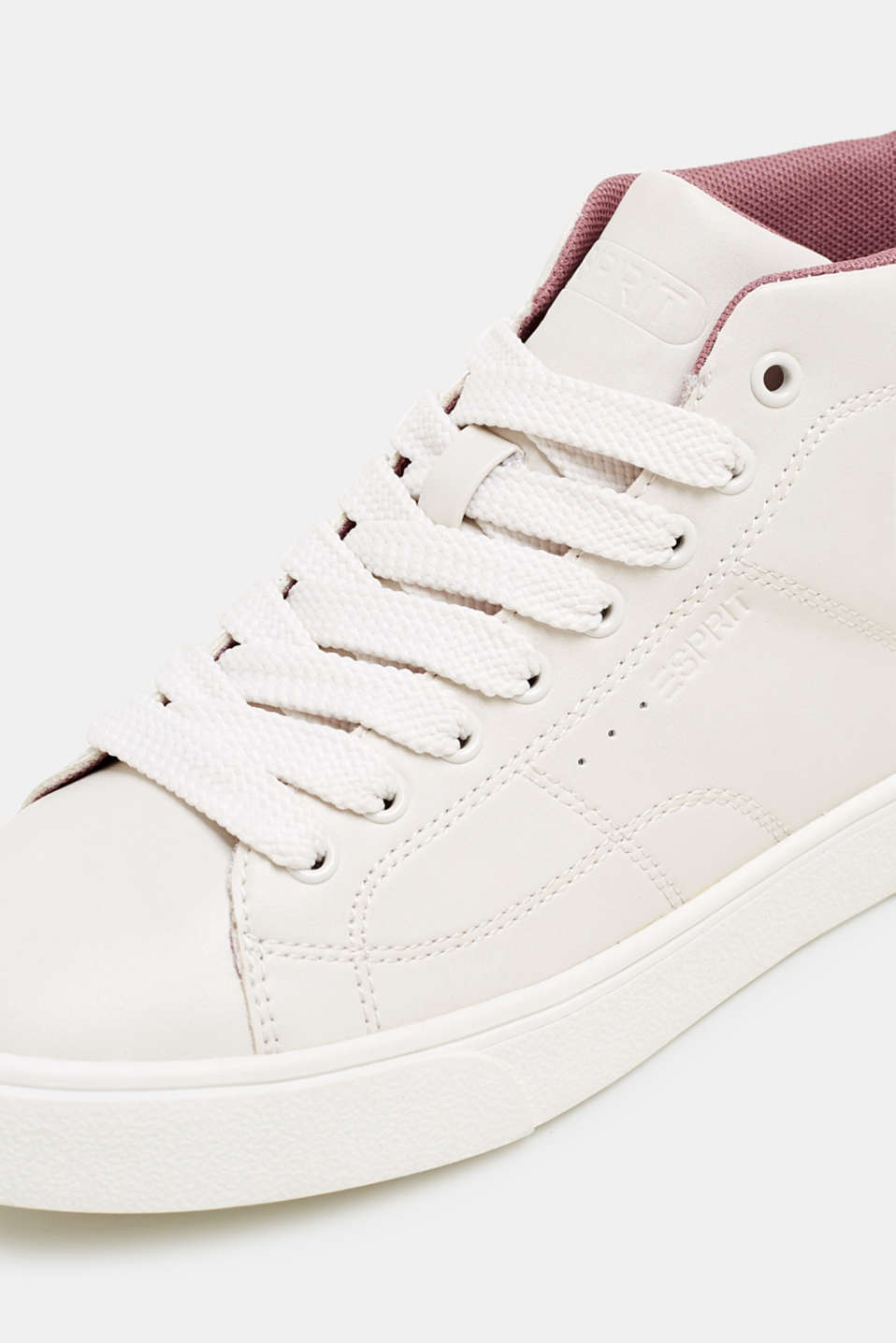 High-top trainers in vegan faux leather, DARK OLD PINK, detail image number 4