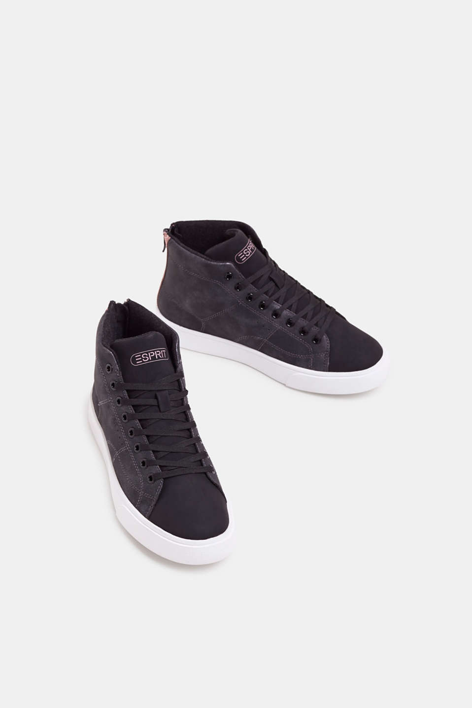 High-top trainers in vegan faux leather, BLACK, detail image number 1