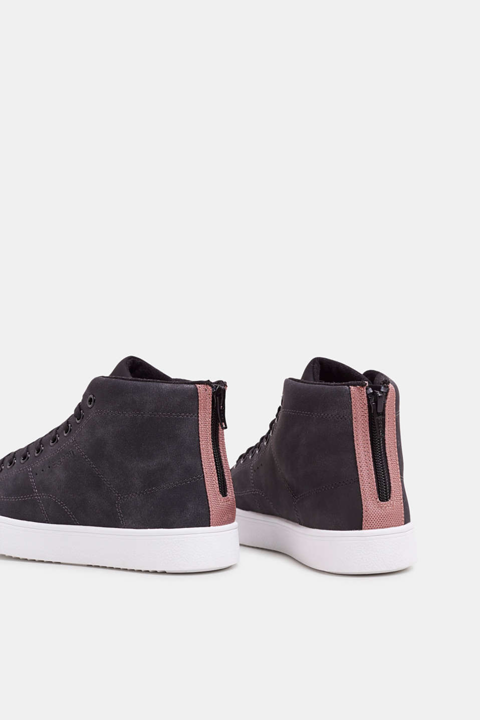 High-top trainers in vegan faux leather, BLACK, detail image number 5