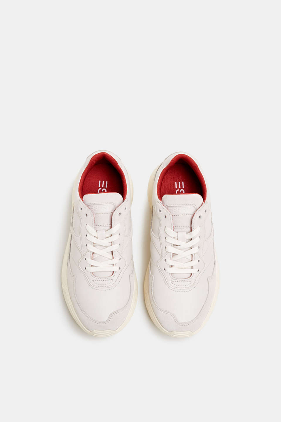 Trendy trainers made of a material mix with leather, OFF WHITE, detail image number 1