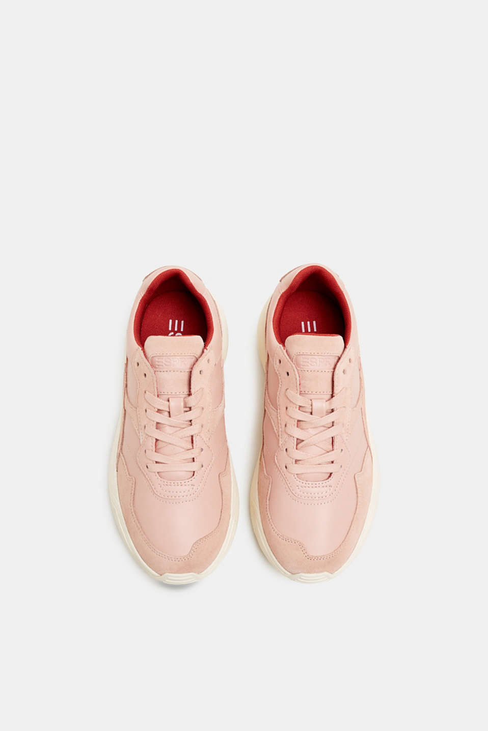 Trendy trainers made of a material mix with leather, NUDE 2, detail image number 1