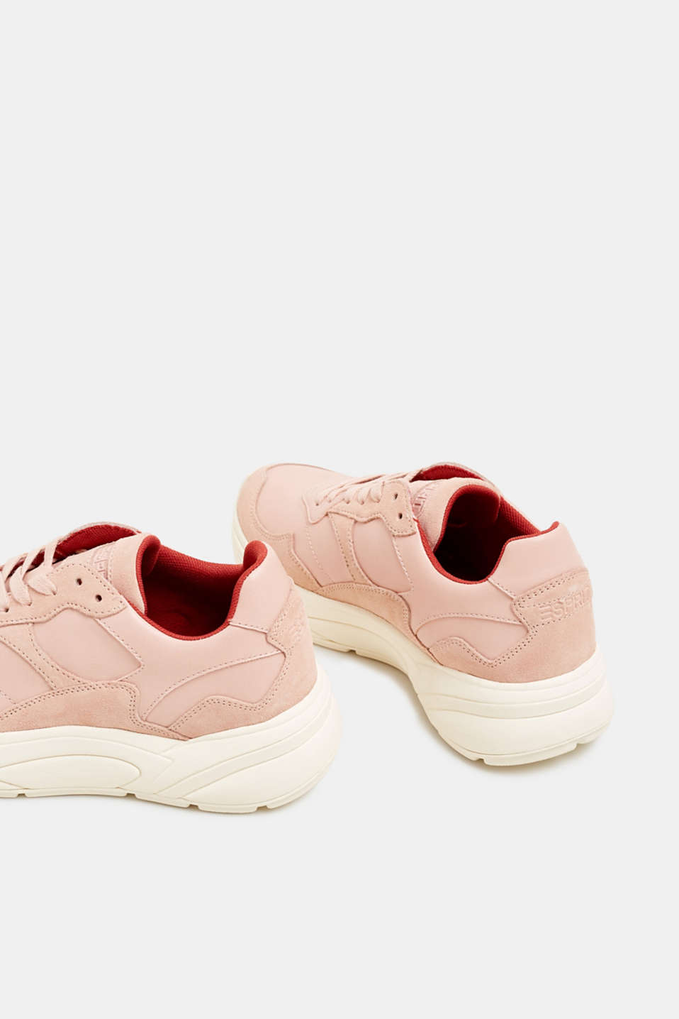 Trendy trainers made of a material mix with leather, NUDE 2, detail image number 5