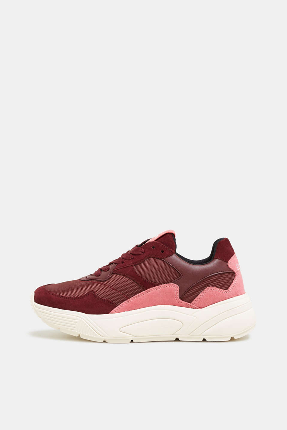 Esprit - Trendy trainers made of a material mix with leather