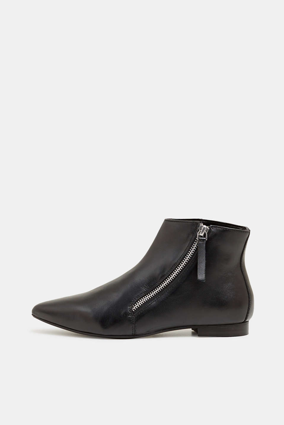 Esprit - Zip ankle boots in nappa leather