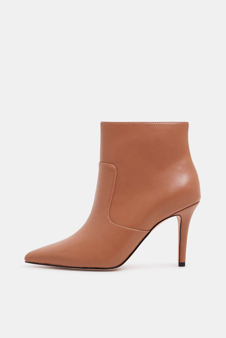 Esprit - Booties met naaldhak, in leerlook