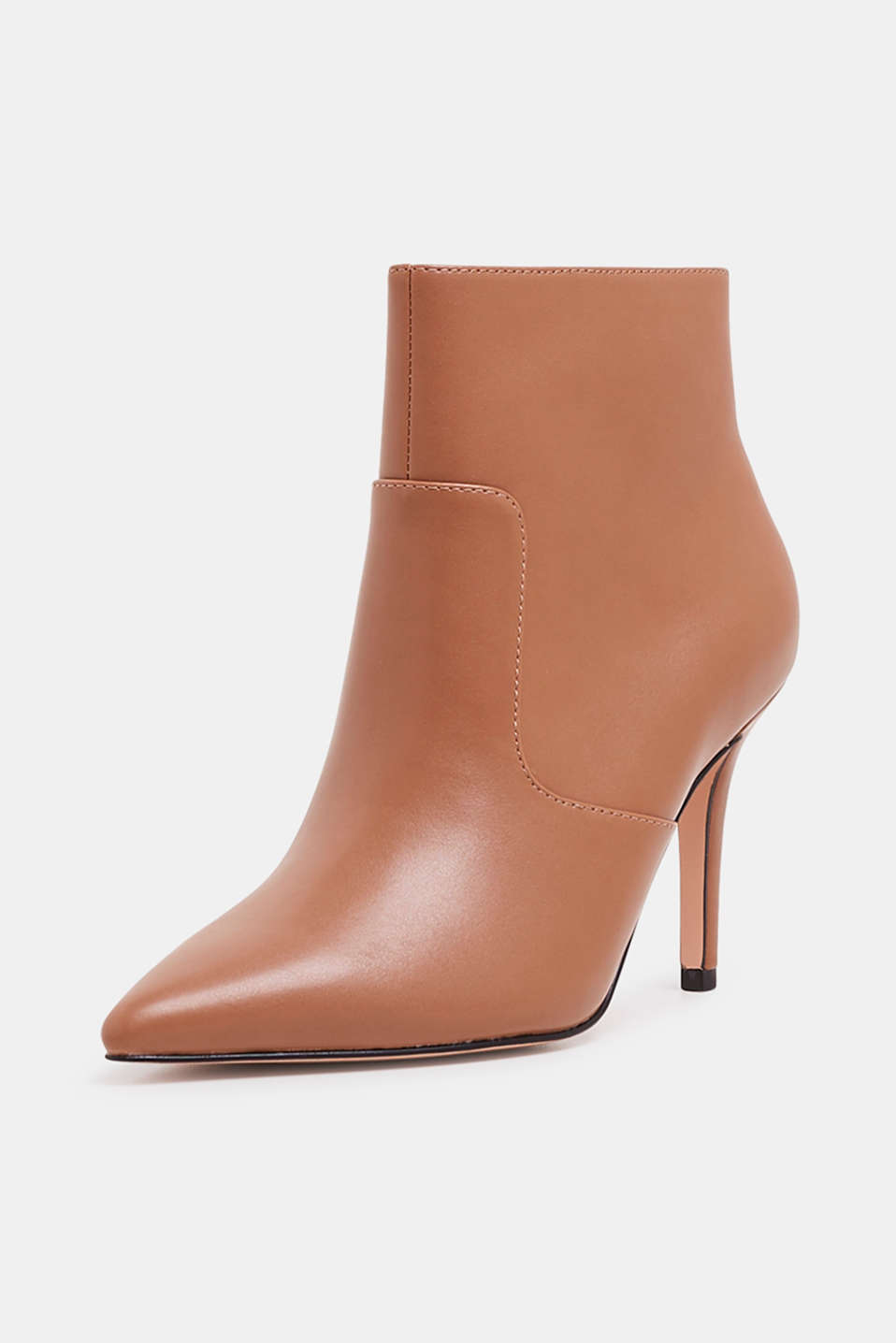 Ankle boots with kitten heel, made of faux leather, CAMEL, detail image number 2