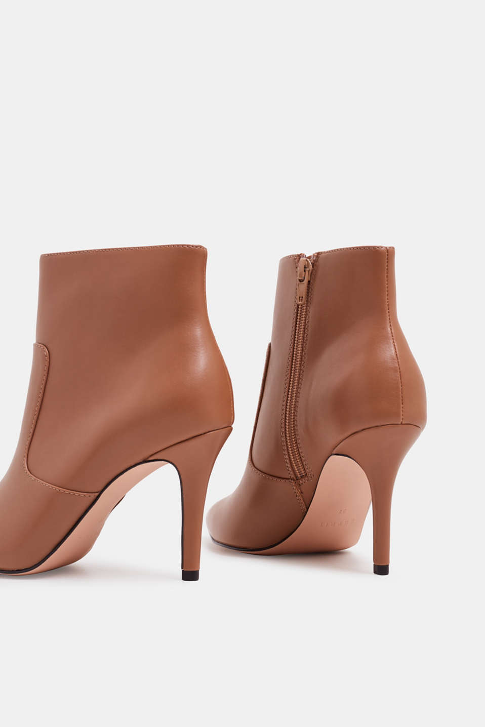 Ankle boots with kitten heel, made of faux leather, CAMEL, detail image number 5