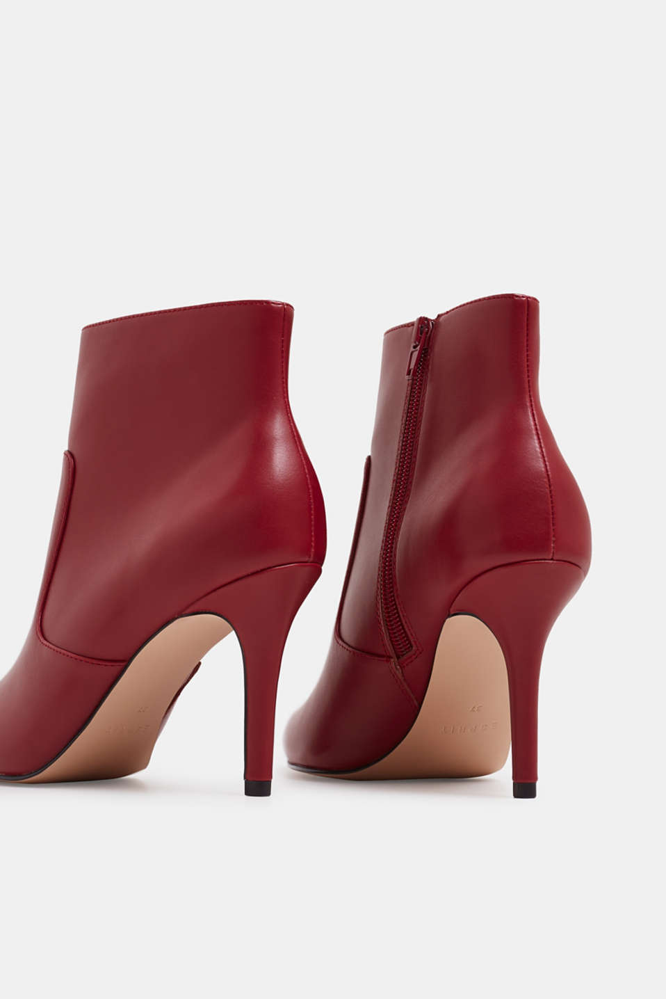 Ankle boots with kitten heel, made of faux leather, RED, detail image number 5