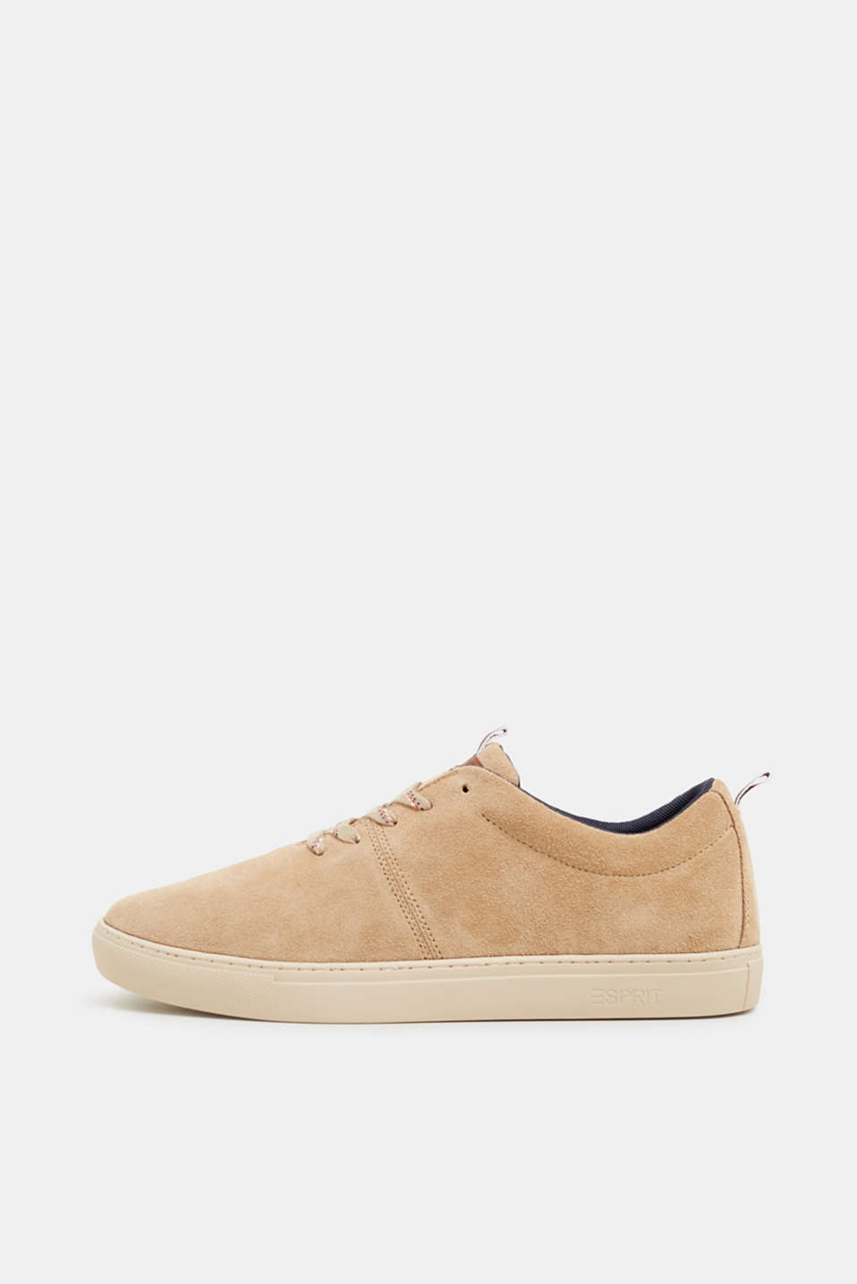 Esprit - Lace-up trainers made of suede