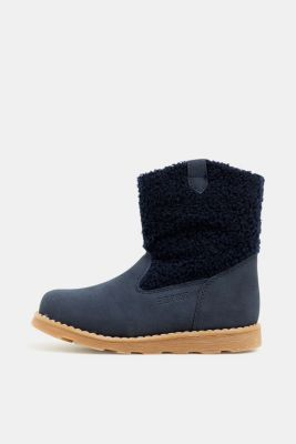 Material mix boots, NAVY, detail