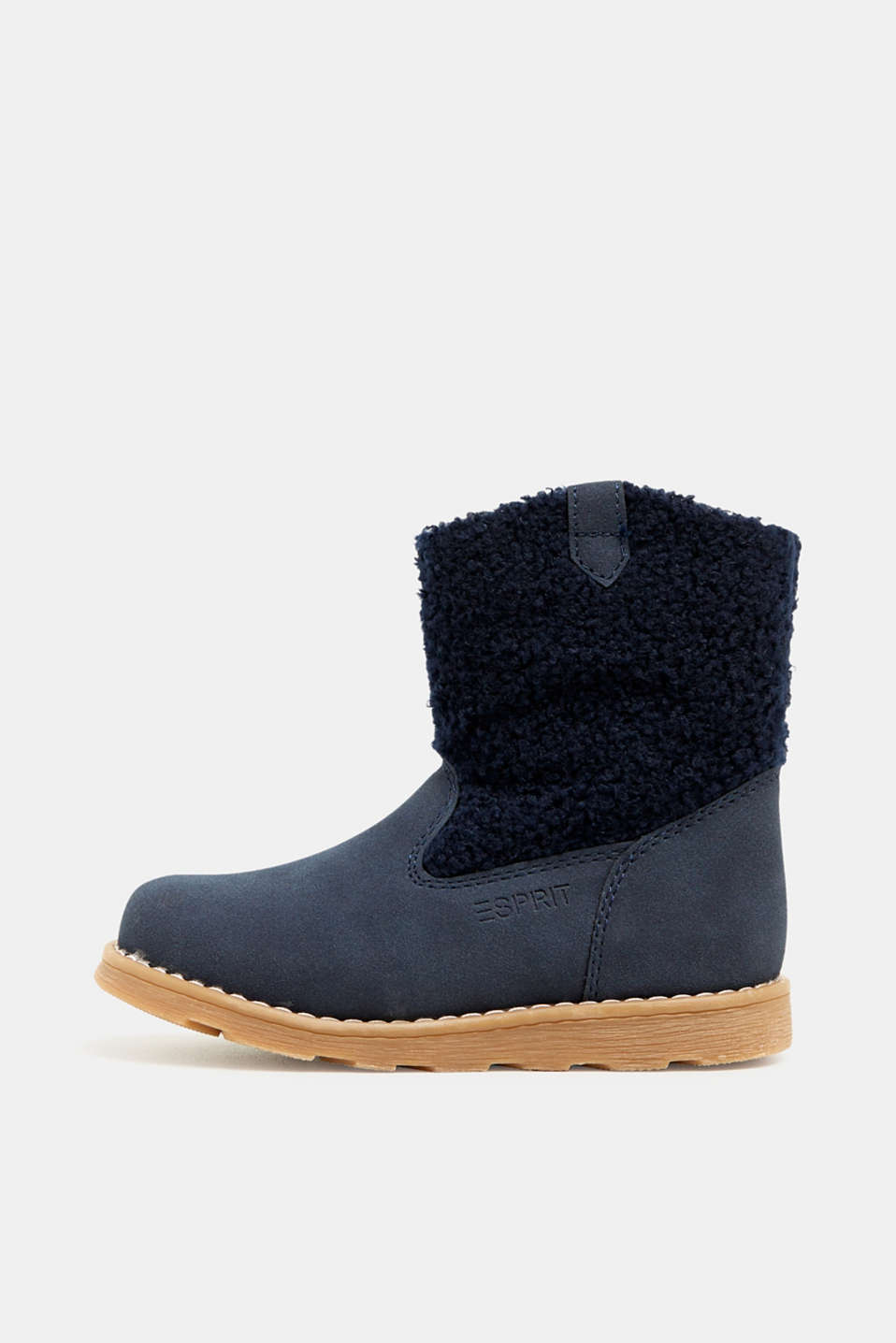 Material mix boots, NAVY, detail image number 0
