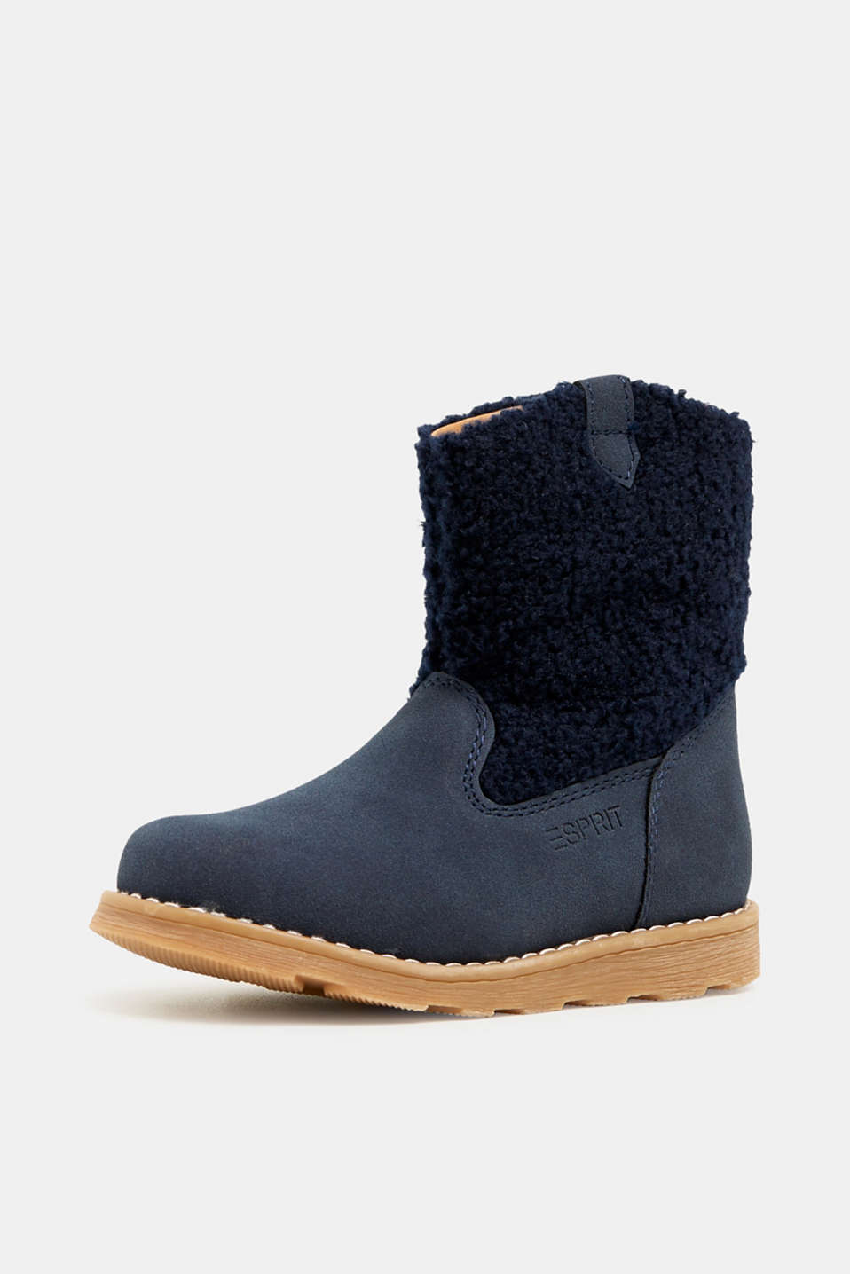 Material mix boots, NAVY, detail image number 2