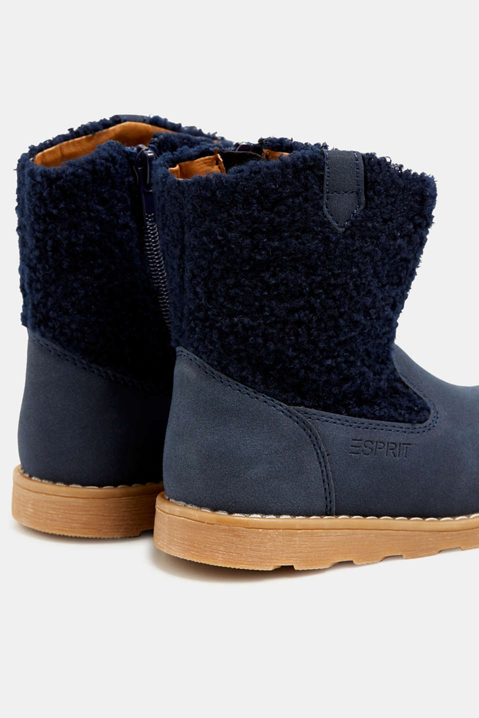Material mix boots, NAVY, detail image number 4