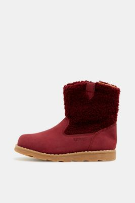 Material mix boots, BORDEAUX RED, detail