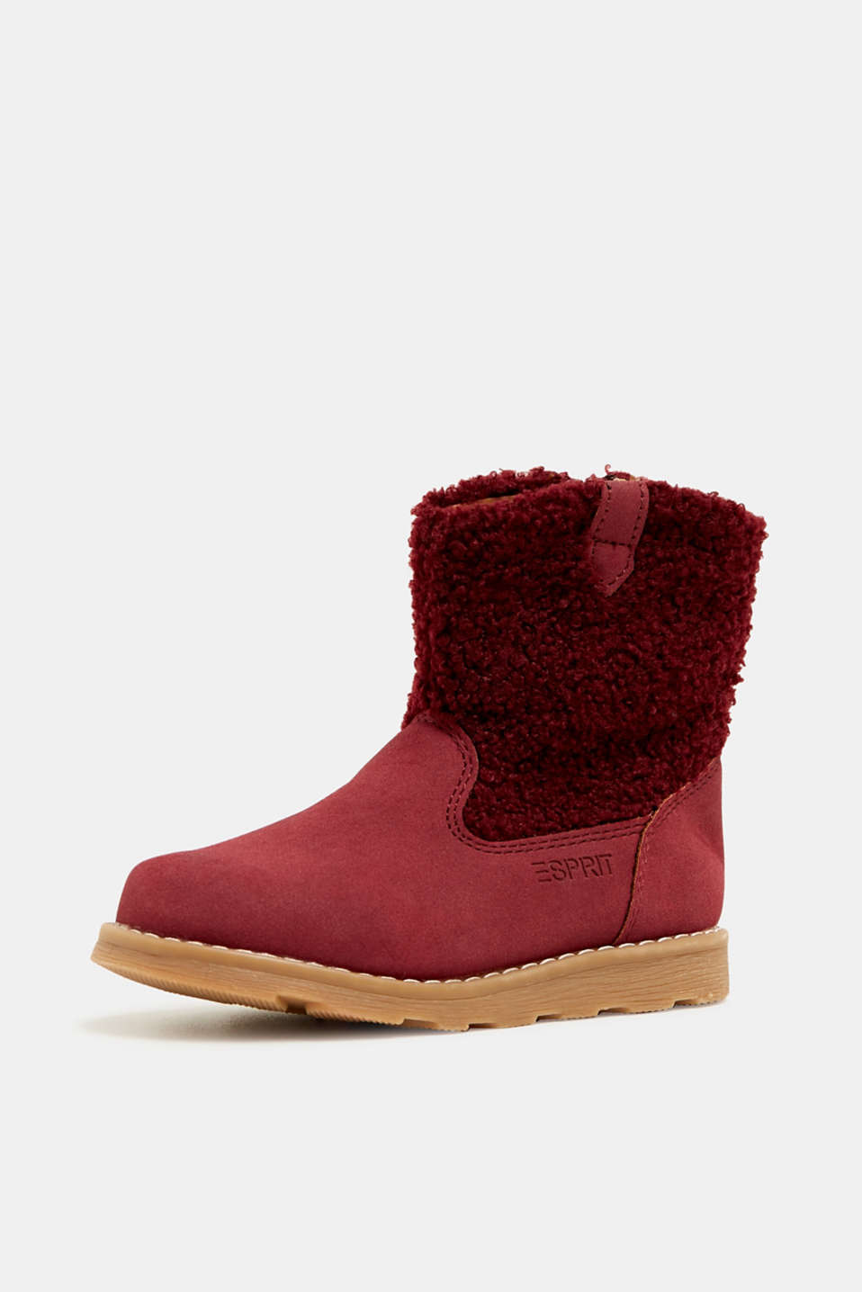 Material mix boots, BORDEAUX RED, detail image number 2