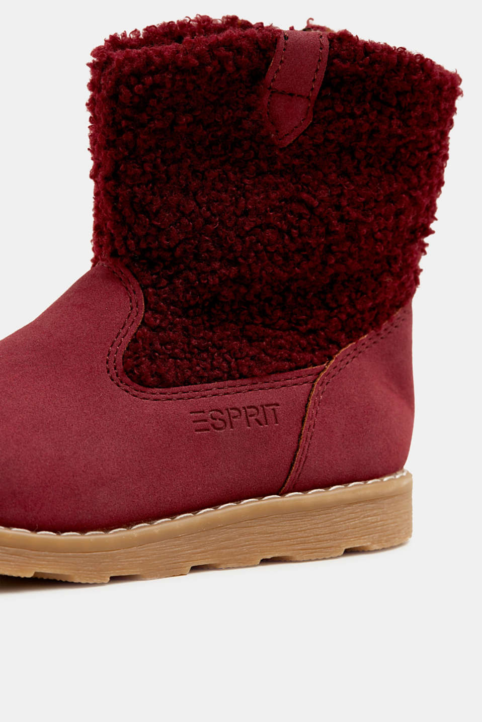 Material mix boots, BORDEAUX RED, detail image number 3