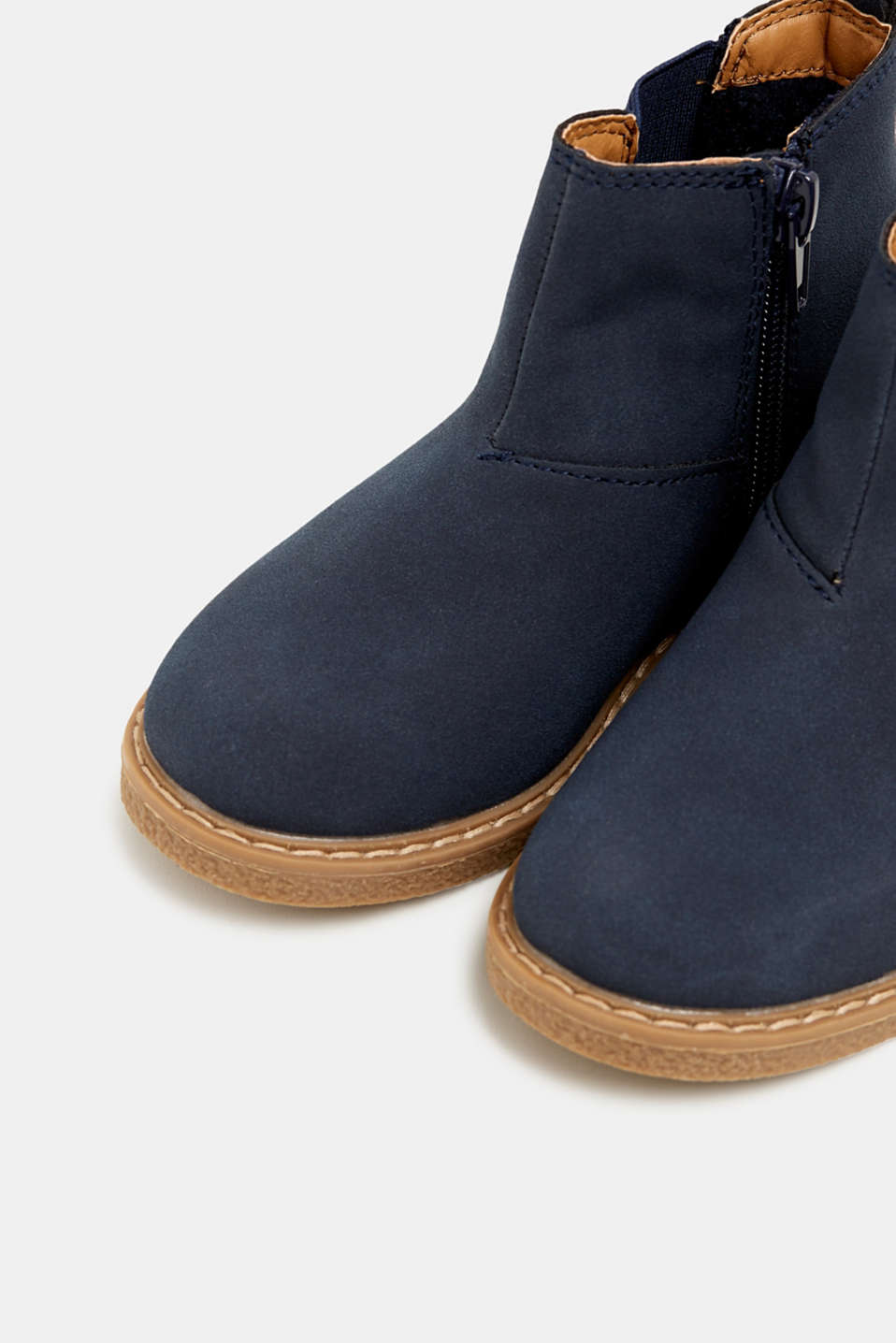 Boots in faux suede, NAVY, detail image number 3