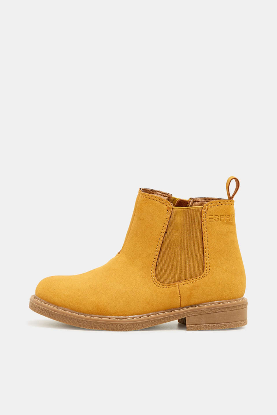 Boots in faux suede, BRASS YELLOW, detail image number 0