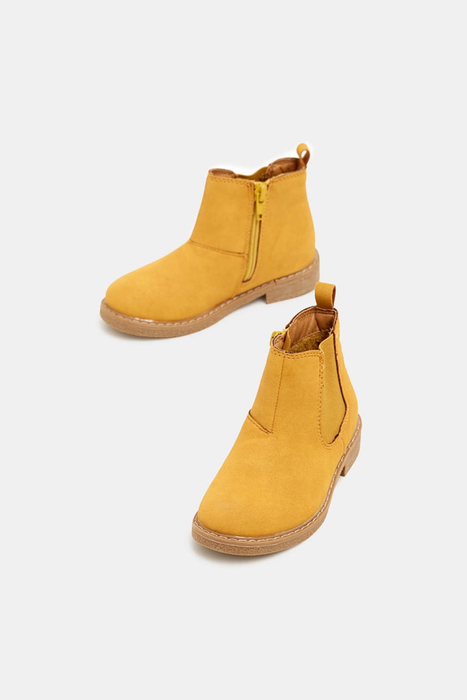 Boots in faux suede, BRASS YELLOW, detail image number 1