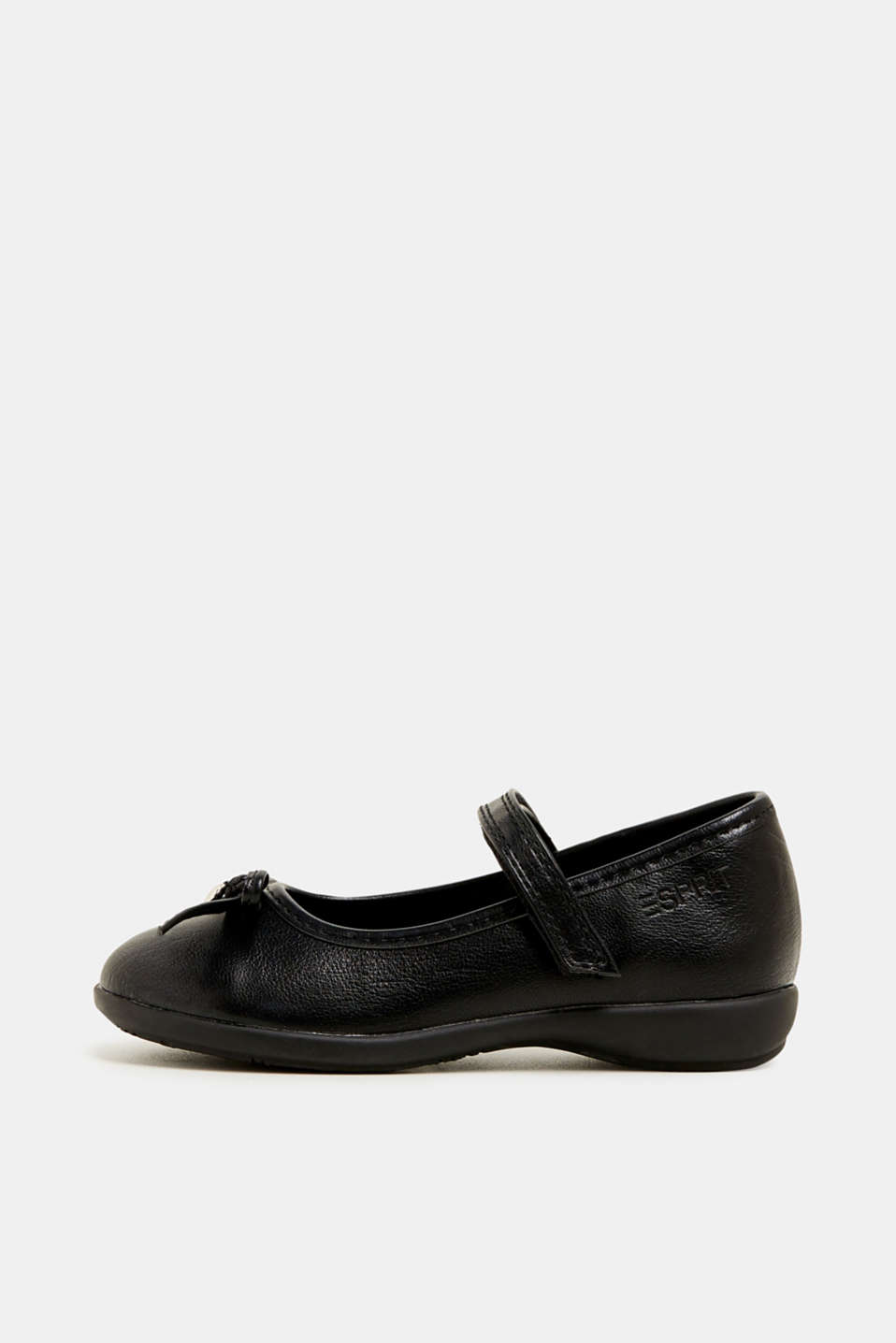 Bow ballerinas with a rubber sole, BLACK, detail image number 0