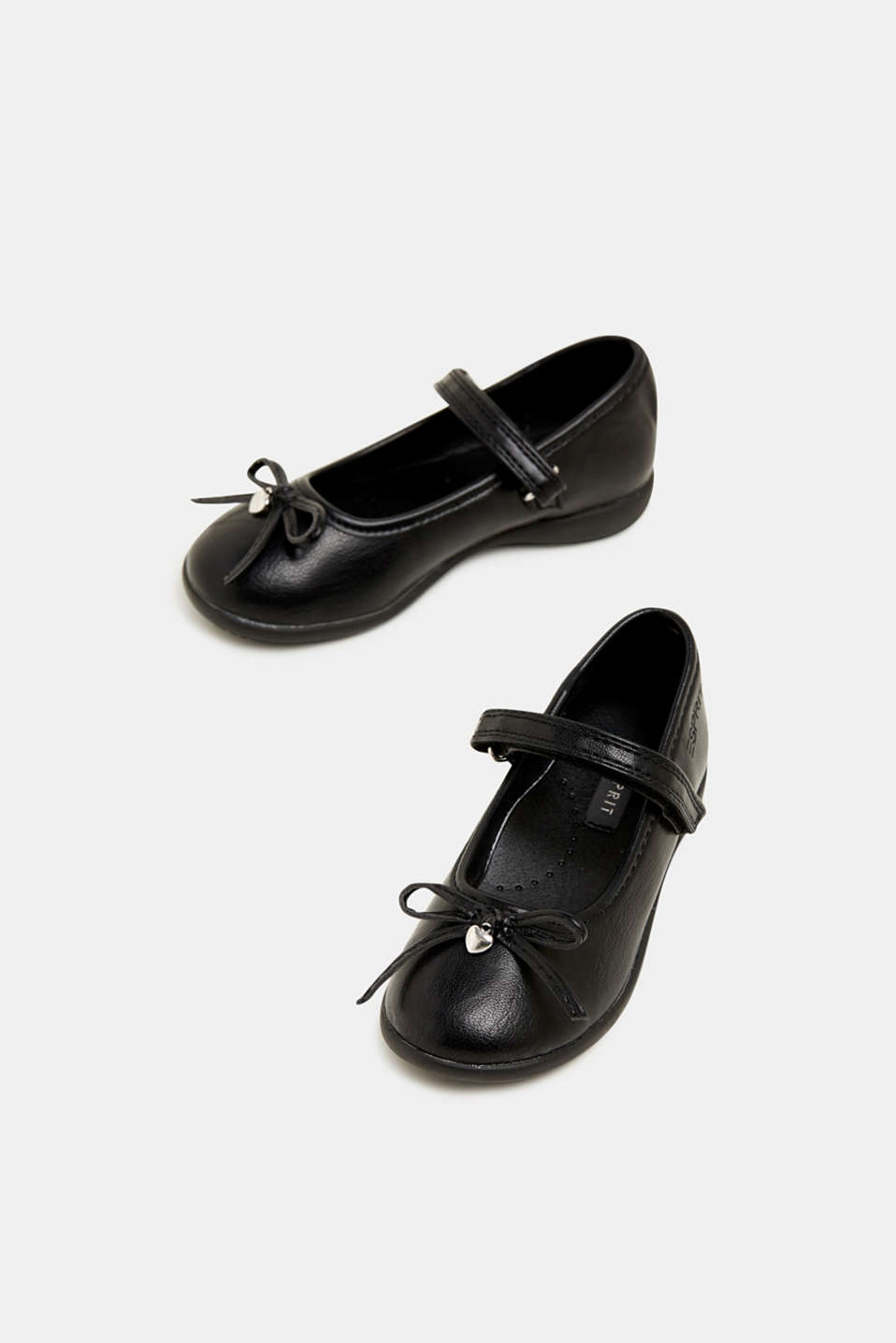 Bow ballerinas with a rubber sole, BLACK, detail image number 1