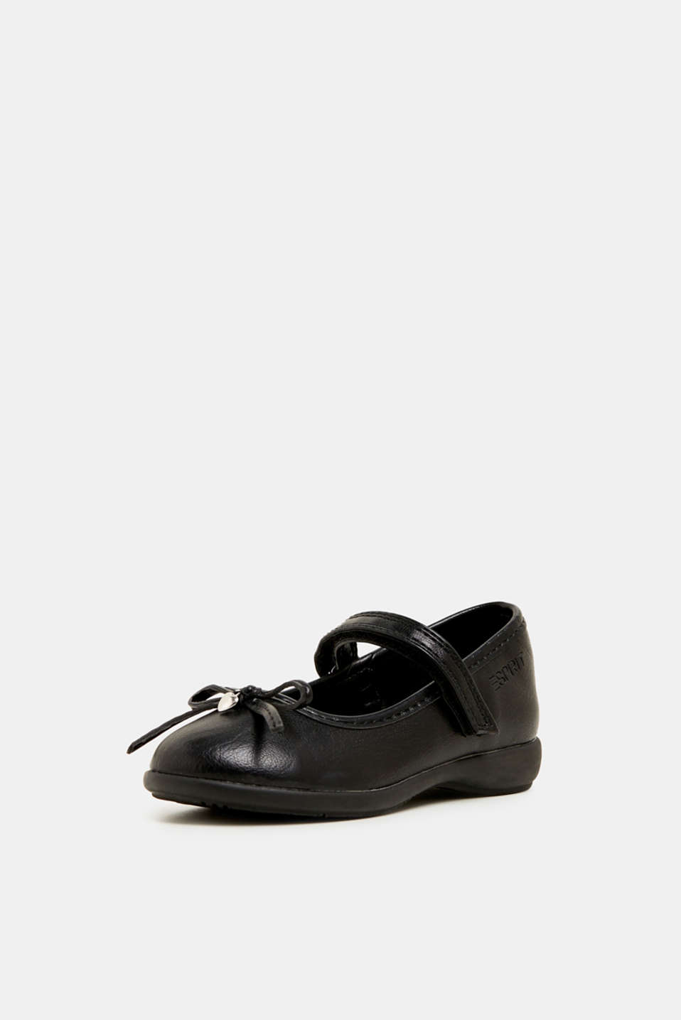 Bow ballerinas with a rubber sole, BLACK, detail image number 2