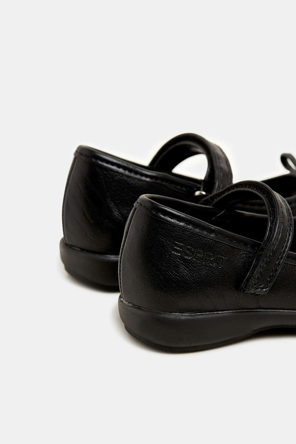 Bow ballerinas with a rubber sole, BLACK, detail image number 4