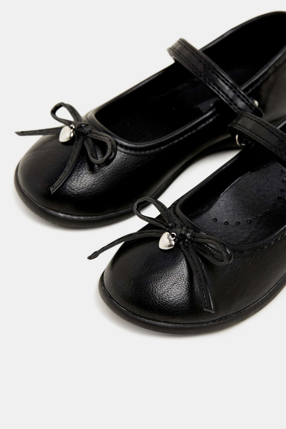 Bow ballerinas with a rubber sole, BLACK, detail image number 3