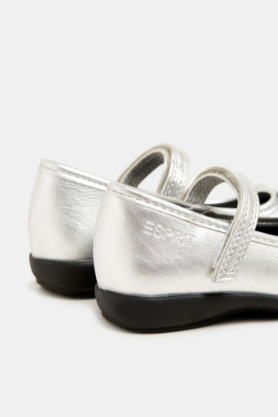 Bow ballerinas with a rubber sole, SILVER, detail image number 4