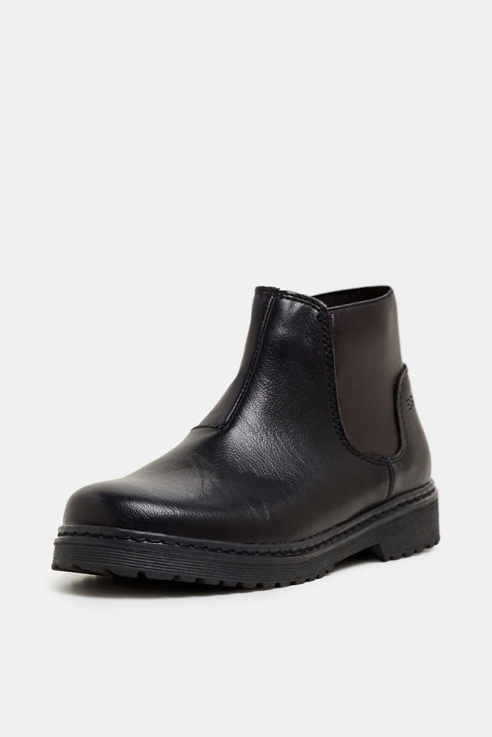 Ankle boot with stretch insert, BLACK, detail image number 2