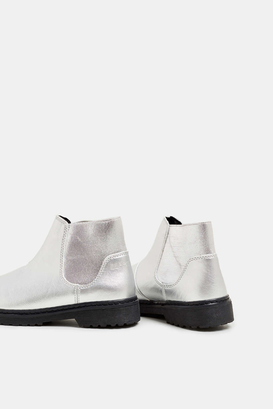 Ankle boot with stretch insert, SILVER, detail image number 4