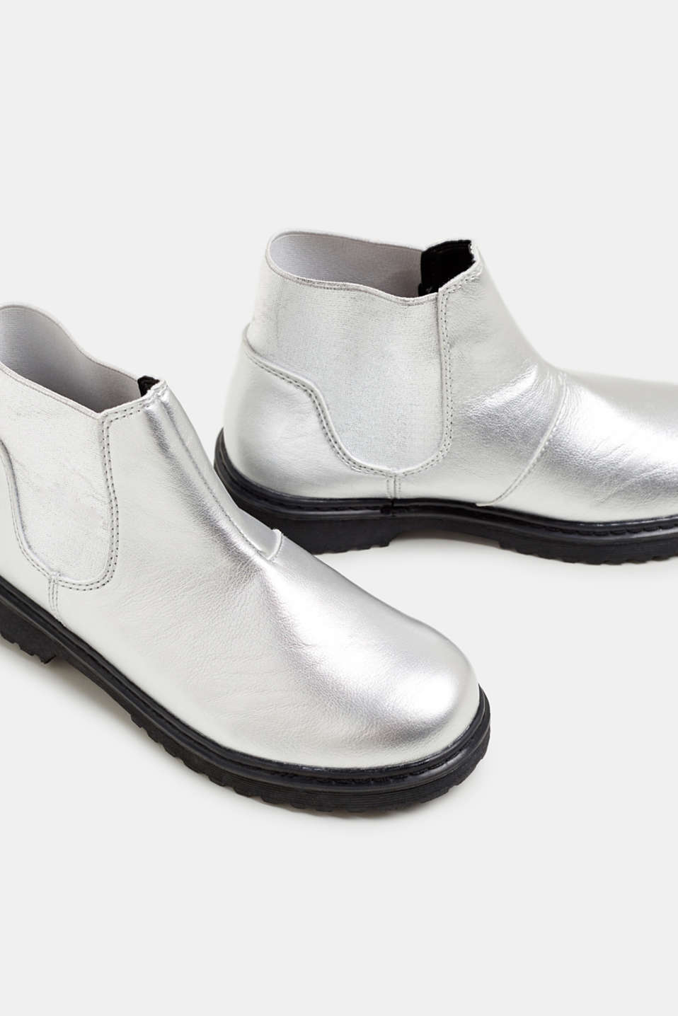 Ankle boot with stretch insert, SILVER, detail image number 3