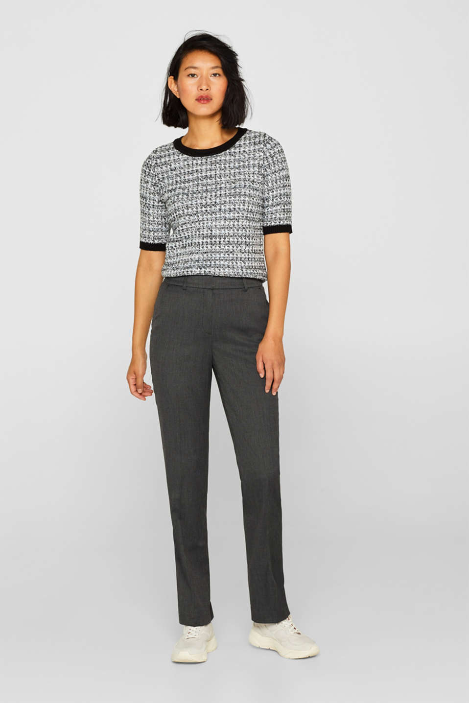 Esprit - Pantalon stretch Mix + Match SALT'N PEPPER