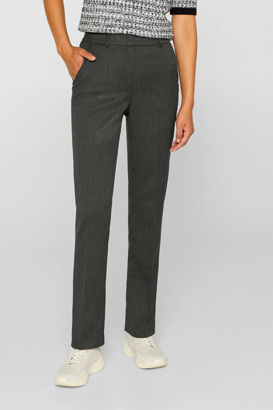 SALT'N PEPPER Mix + Match stretch trousers, ANTHRACITE, detail image number 5