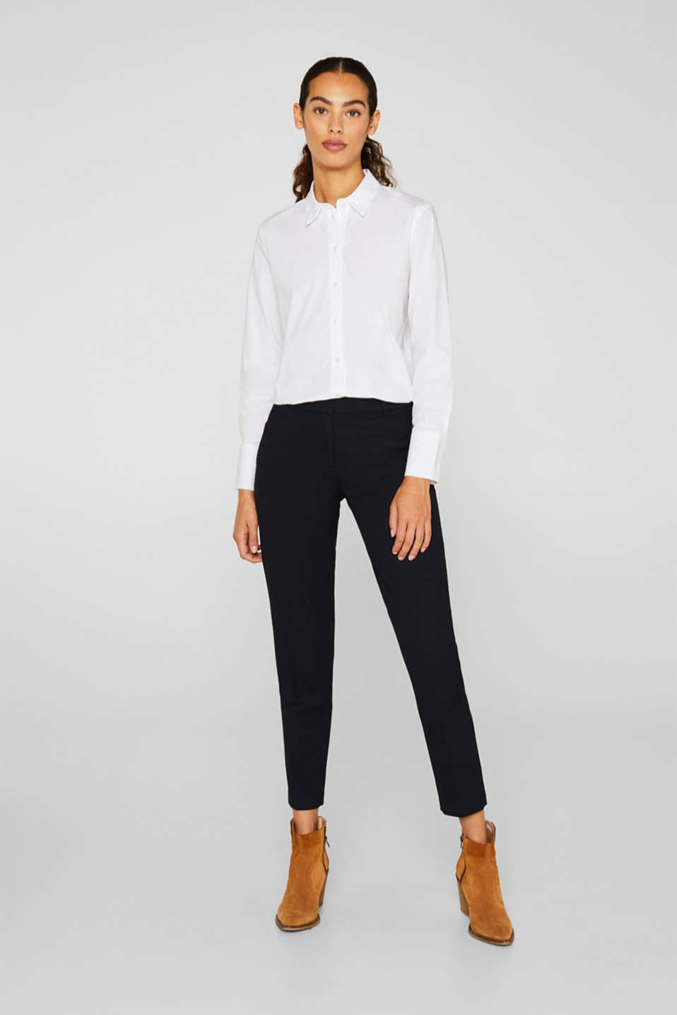 Esprit - TONE-IN-TONE STRUCTURE Mix + Match Stretch Trousers