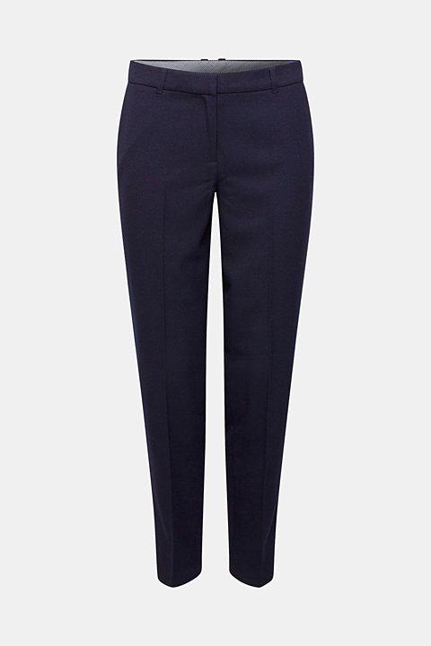 TONE-IN-TONE STRUCTURE Mix + Match Stretch Trousers