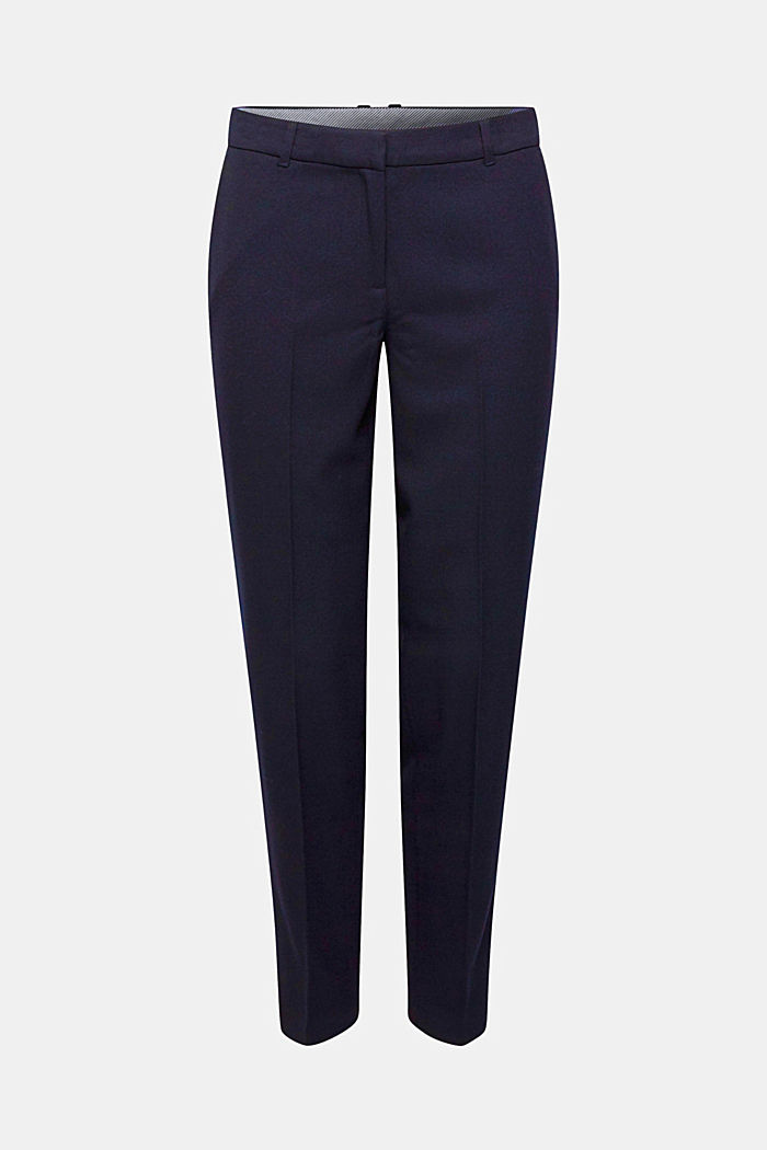 TONE-IN-TONE STRUCTURE Mix + Match Stretch Trousers