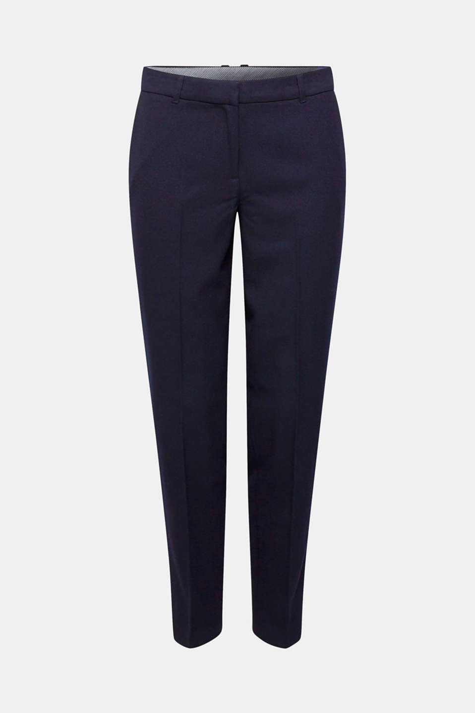 TONE-IN-TONE STRUCTURE Mix + Match Stretch Trousers, NAVY, detail image number 8