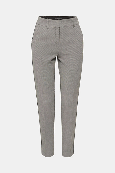 HOUNDSTOOTH Mix + Match stretch trousers