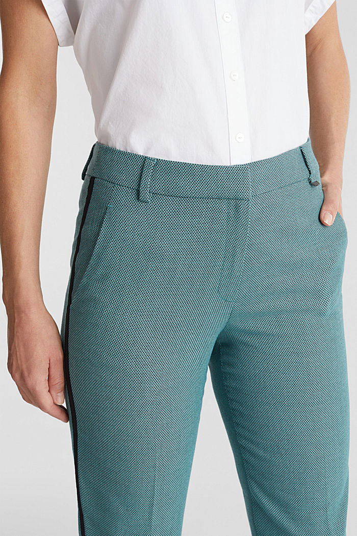 Hose mit Jacquard-Muster, DUSTY GREEN, detail image number 2