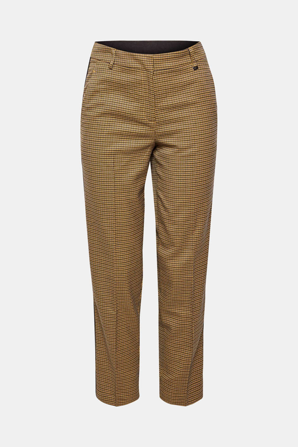 Stretch trousers with a houndstooth pattern and racing stripes, BARK, detail image number 8